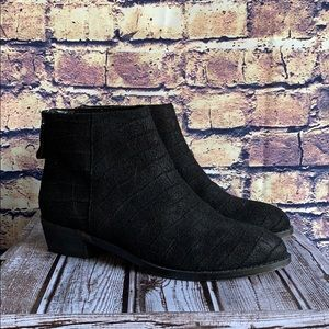 Kelsi Dagger Black Suede Ankle Booties
